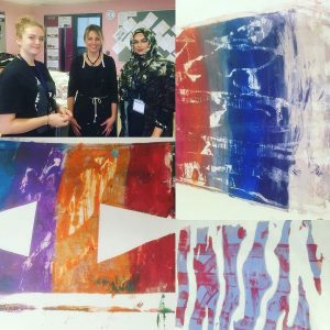 A fantastic Artists In Residence session with All Saints Academy students last week with our ambassadors from @plymouthcollegeofart #year11 #artstudents #monoprinting #inspire #highereducation #art #artstagram