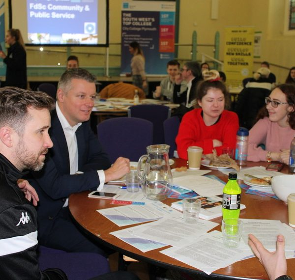 City College Plymouth students working together to tackle loneliness