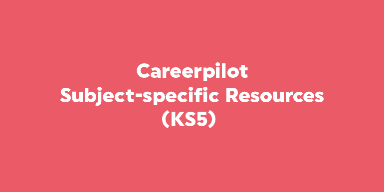 Careerpilot: Subject-specific Resources