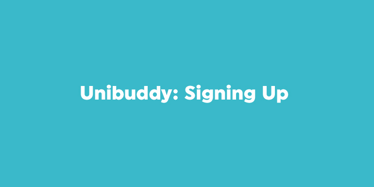 Unibuddy: Signing Up