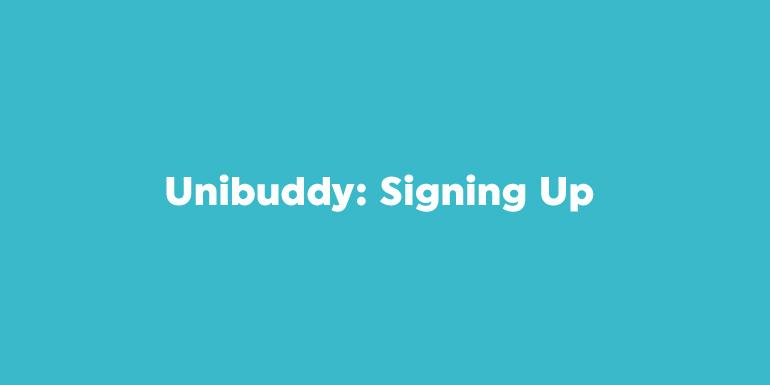 Unibuddy: Signing Up